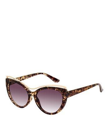 Brown Tortoiseshell Print Cat Eye Sunglasses New Look