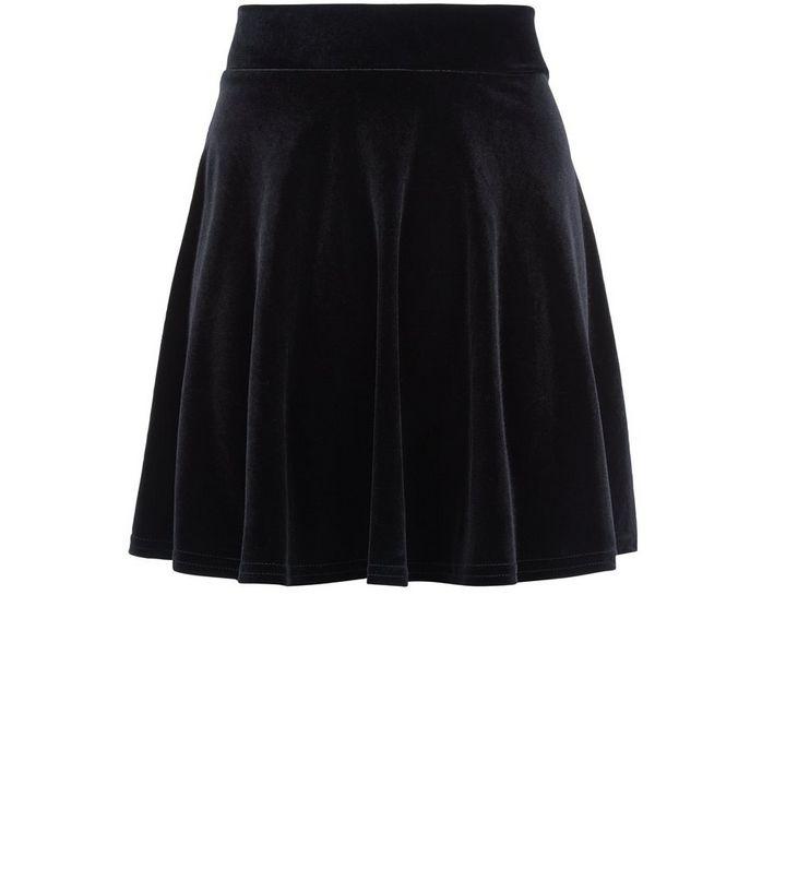 e50c77c5e6 Teens Black Velvet Skater Skirt