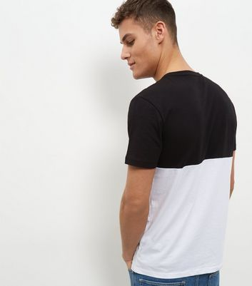 Black Colour Block T-Shirt New Look