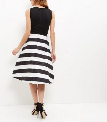 AX Paris Black Stripe 2 in 1 Dress New Look