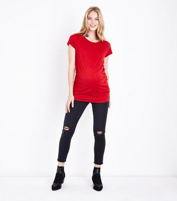 Maternity Red Short Sleeve T-Shirt New Look