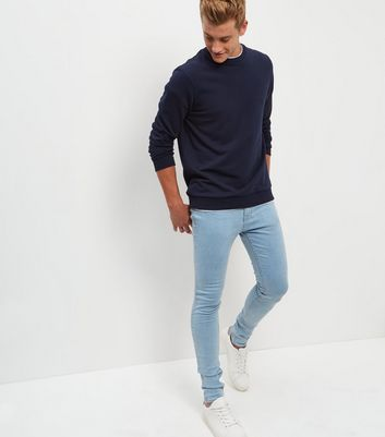 Pale Blue Light Washed Super Skinny Jeans New Look