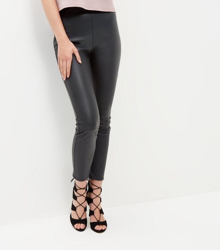 save up to 60% newest collection new style Black Leather-Look Leggings Add to Saved Items Remove from Saved Items