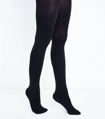 Black Premium 80 Denier Tights New Look