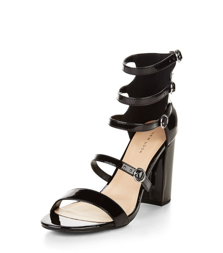 930b363a71d Black Multi Strap Block Heel Sandals Add to Saved Items Remove from Saved  Items