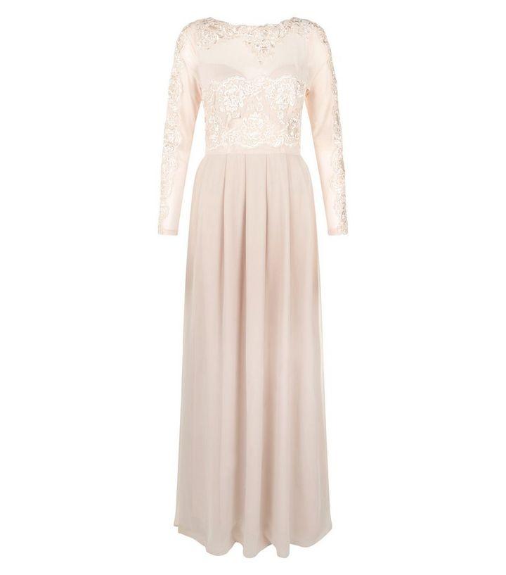 32ee004ad AX Paris Cream Lace Long Sleeve Maxi Dress | New Look