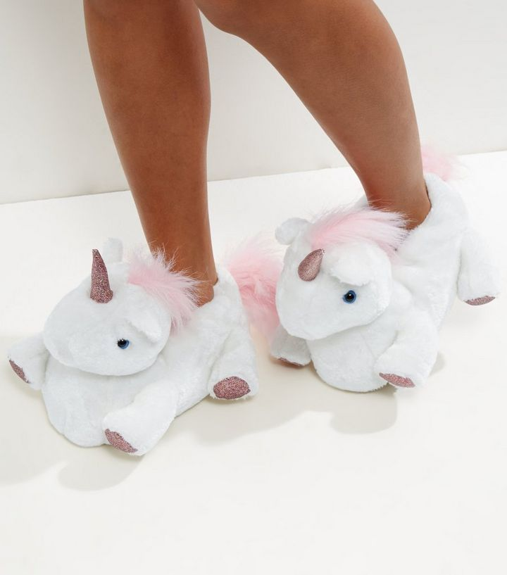 9ac5fa0930514 White Unicorn Slippers Add to Saved Items Remove from Saved Items