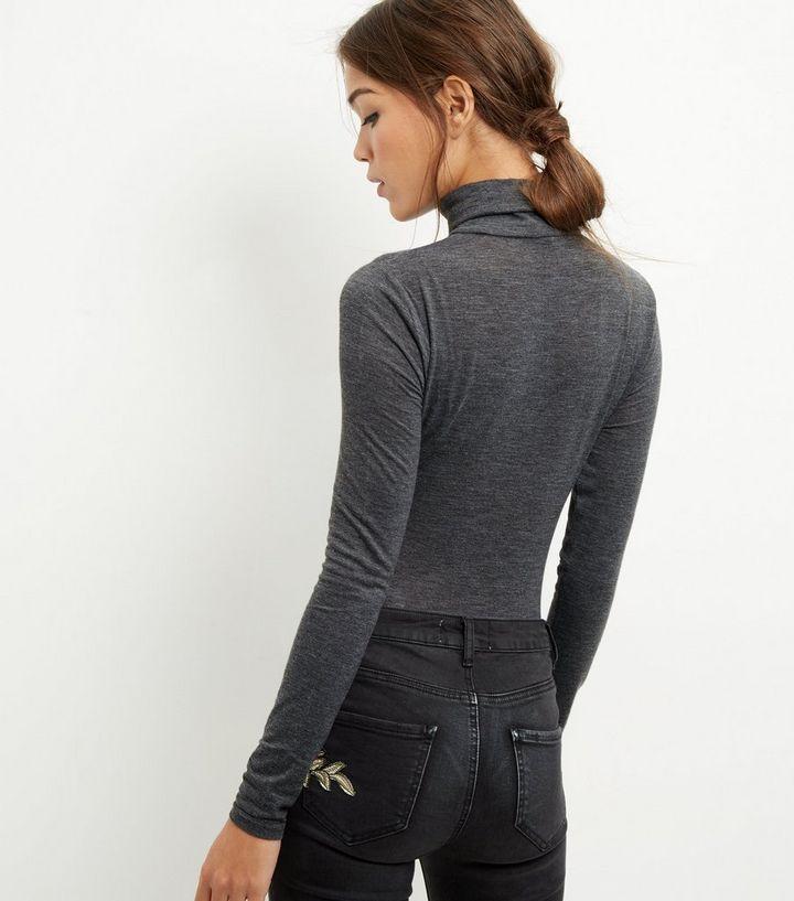 ... Dark Grey Funnel Neck Long Sleeve Bodysuit. ×. ×. ×. Shop the look b77146032