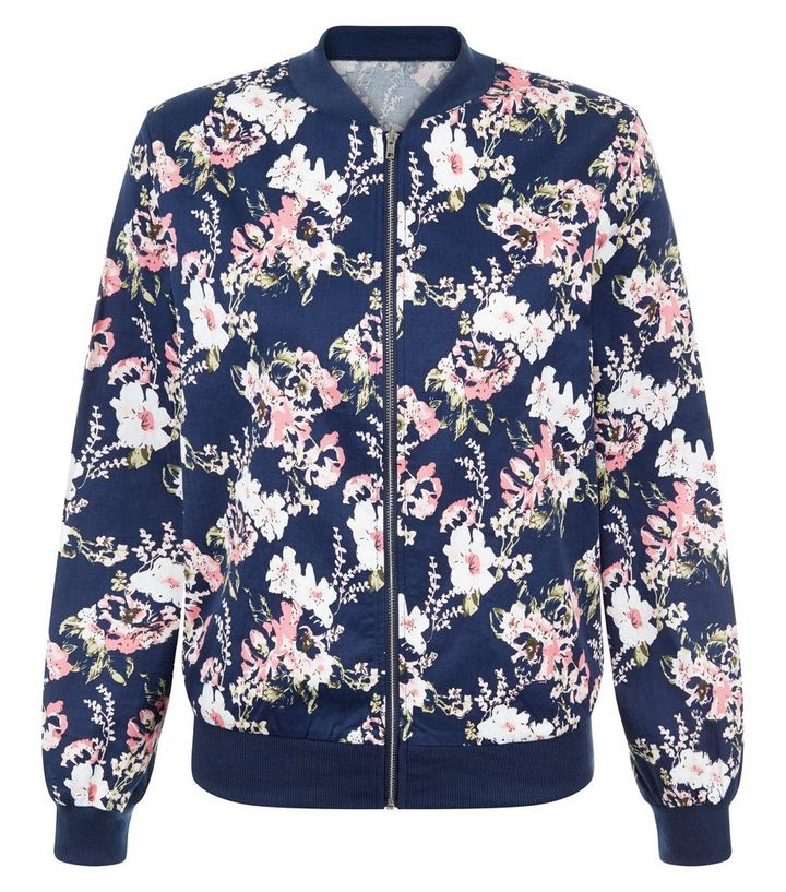 7ad50c54e Cameo Rose Blue Floral Print Bomber Jacket Add to Saved Items Remove from  Saved Items