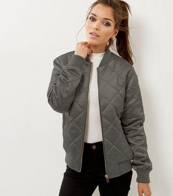 Damen Bomberjacke Diamond Quilt Jacke