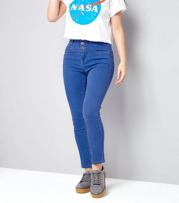 Bright Blue Super High Waisted Skinny Jeans New Look