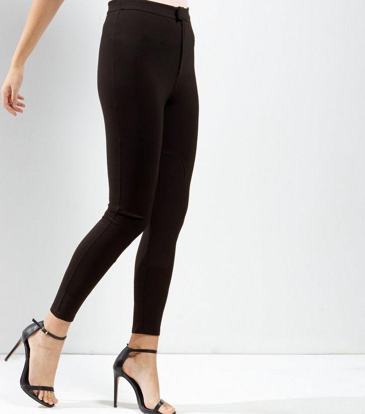 f14800b7e7076 Black Zip Fly Leggings | New Look