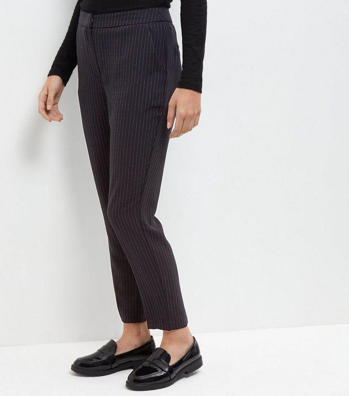 cbc8b772a2 Navy Pinstripe Slim Leg Trousers