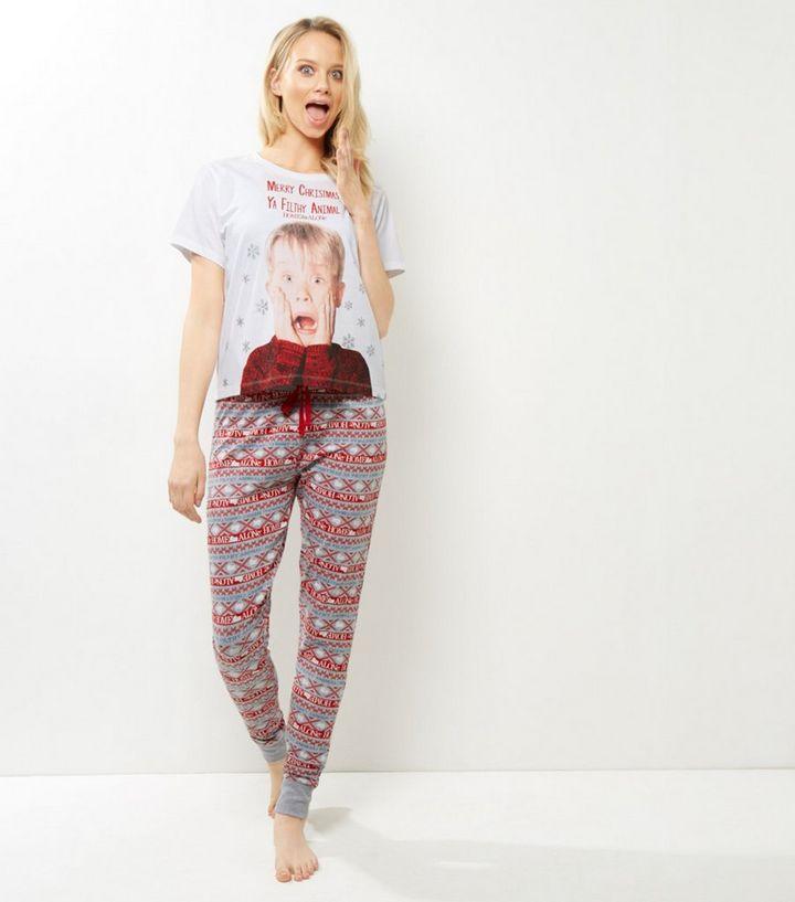 74cfce4904 Grey Home Alone Christmas Pyjama Set