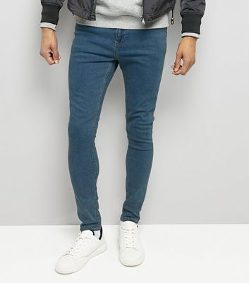 Blue Super Skinny Stretch Jeans New Look