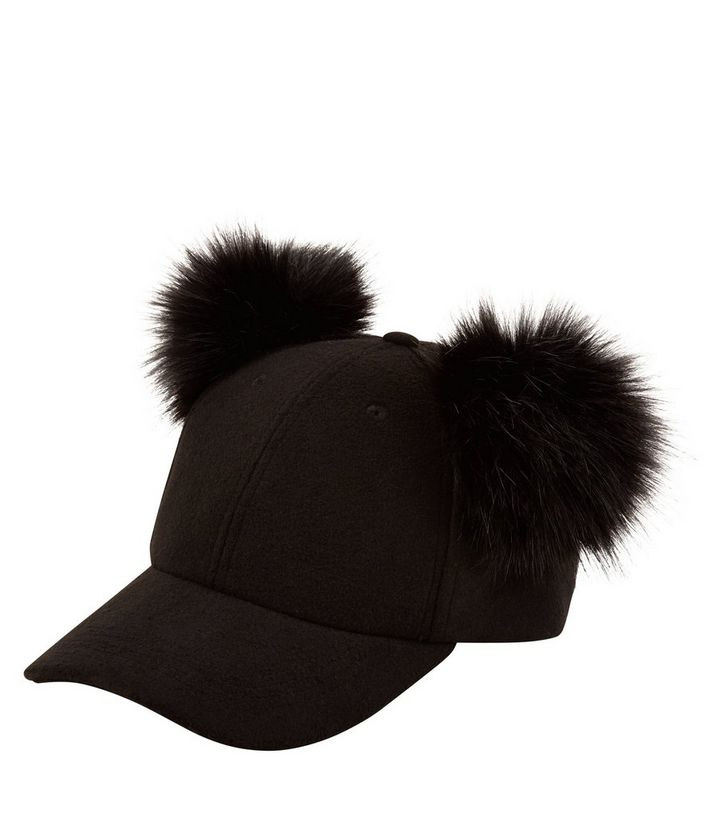 854febf87a9 ... Women s Hats · Black Double Faux Fur Pom Pom Cap. ×. ×. ×. Shop the look