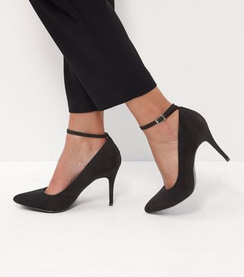 Black Comfort Suedette Pointed Ankle