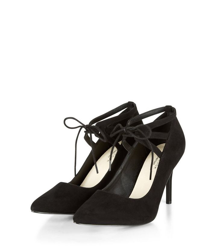 74f33d61c2 ... Black Comfort Lace Up Pointed Heels. ×. ×. ×. VIDEO Shop the look