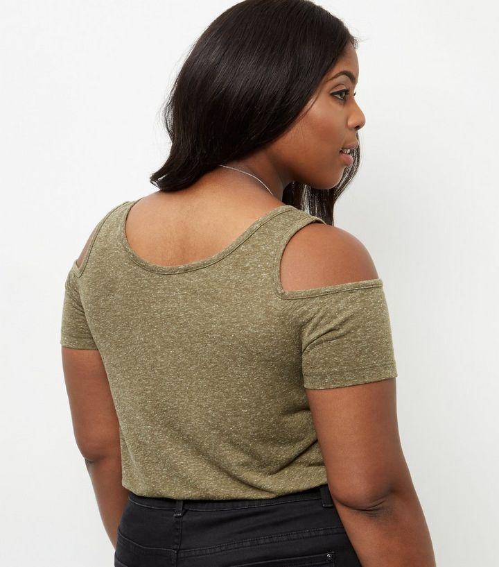 24acb3b847779 ... Curves Khaki Cold Shoulder Top. ×. ×. ×. Shop the look