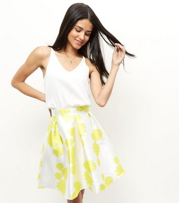 AX Paris Yellow Floral Print 2 in 1 Dress New Look