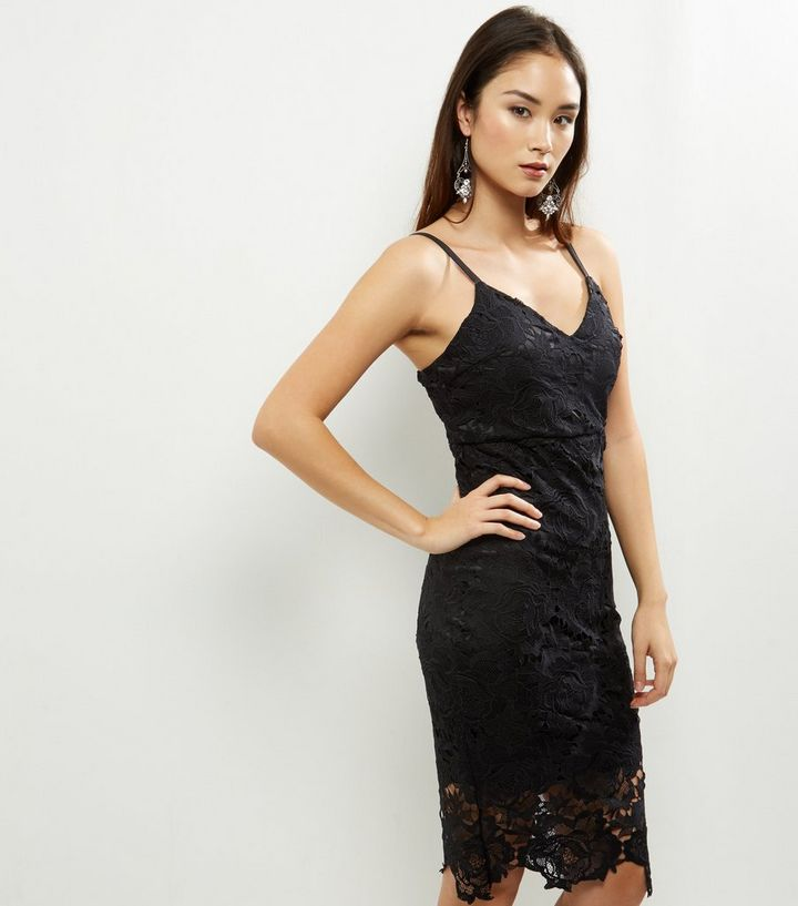 363aaacd06ca AX Paris Black Crochet Lace Midi Dress | New Look