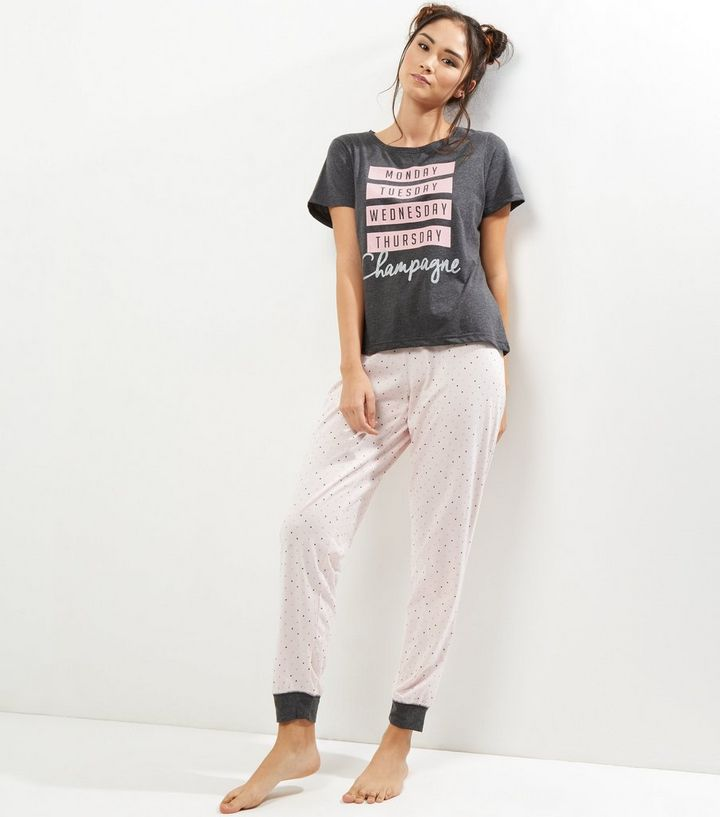 a8fce67b3c7c Dark Grey Pyjama T-Shirt and Joggers