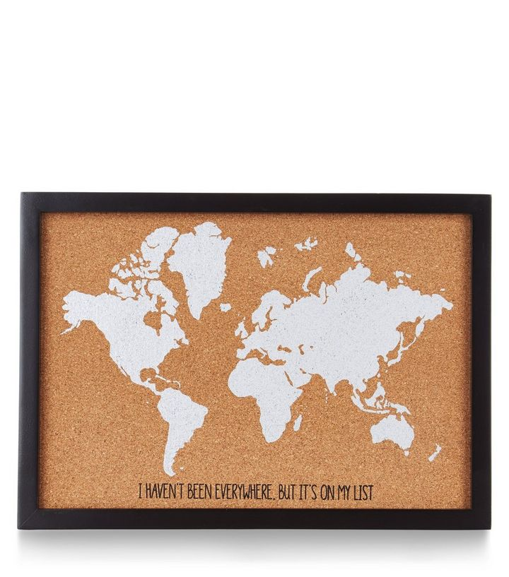 Brown world map cork board new look product details care guide world map design gumiabroncs Gallery