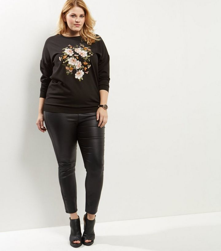 9ad33a14cbf ... Womens Clothing · Hoodies   Sweatshirts · Curves Black Floral Embroidered  Sweater. ×. ×. ×. Shop the look