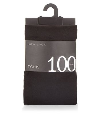 2 Pack Black 100 Denier Tights New Look