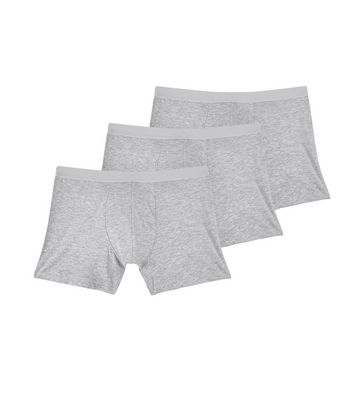 3 Pack Grey Boxer Briefs New Look