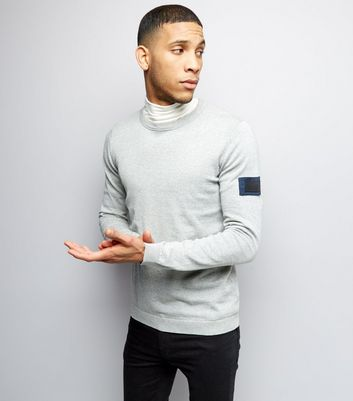 Jack & Jones Grey Crew Neck Jumper New Look
