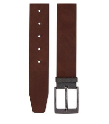 Brown Tapered End Belt New Look
