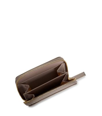 Mink Zip Around Cardholder New Look
