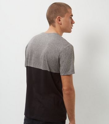 Grey Colour Block T-Shirt New Look