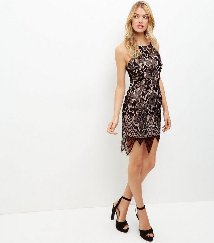 db1018e56ebda Accueil · Femme · Vêtements · Robes · Robe moulante noire en dentelle à ourlet  festonné. ×. ×. ×. Shopper le look