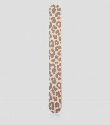 Leopard Print Nail File New Look