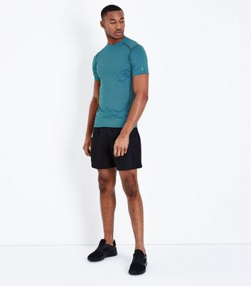Blue Stretch Short Sleeve Sports T-Shirt New Look