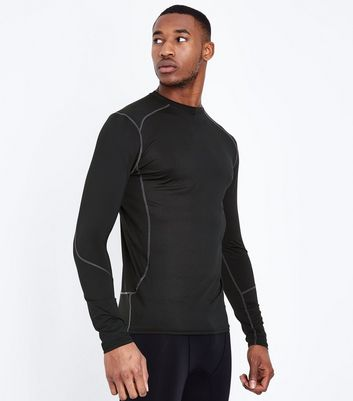 Black Long Sleeve Sports T-Shirt New Look