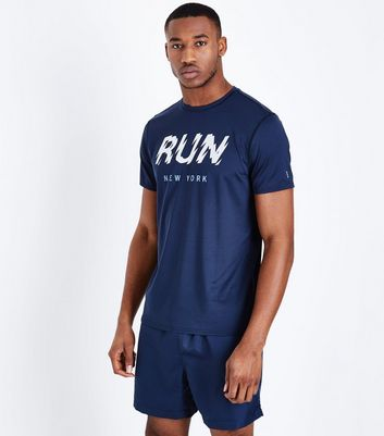 Navy Running Shorts New Look