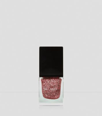Pink Show Business Glitter Nail Polish New Look