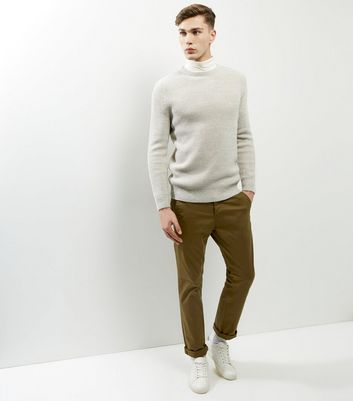 Brown Slim Chinos New Look