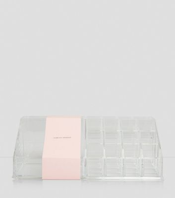 Transparent Cosmetics Organiser New Look