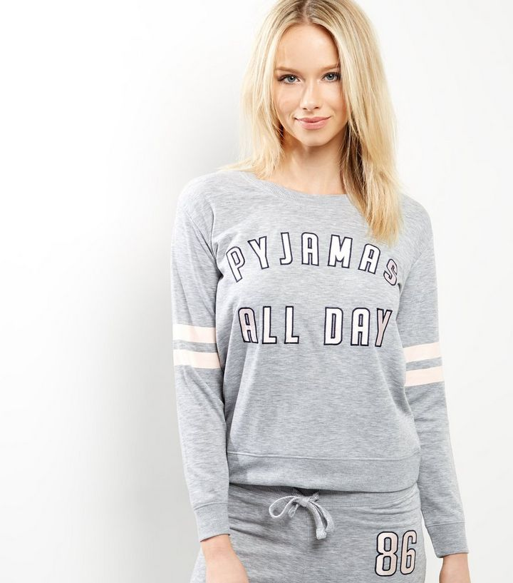 d024de430b Petite Grey Pyjamas All Day Pyjama Sweater