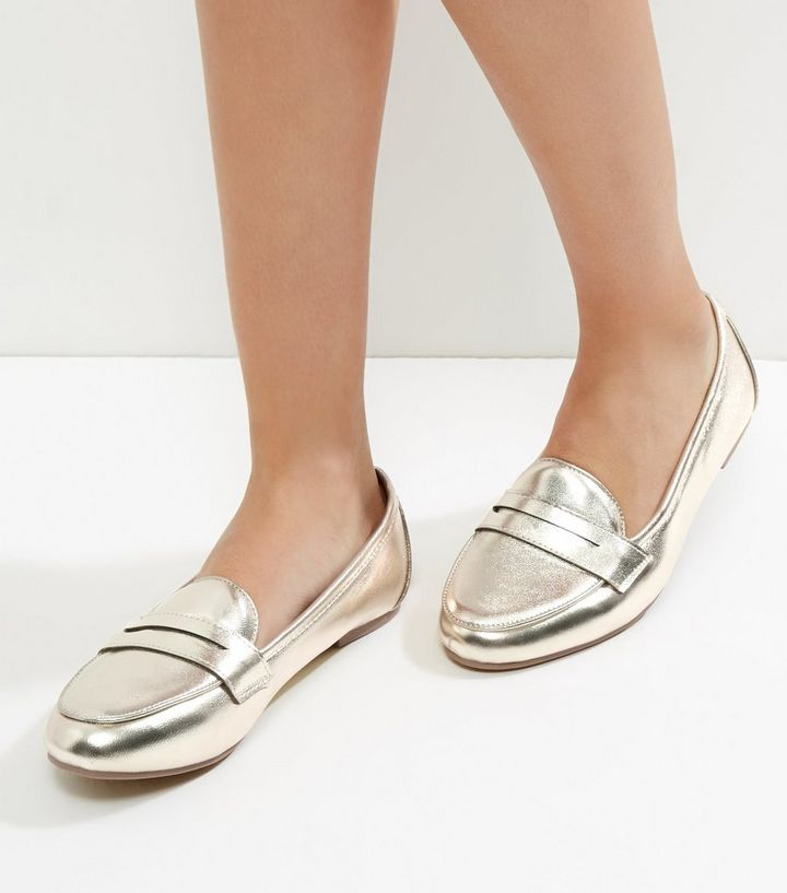 eb23ff14993 Gold Metallic Loafers