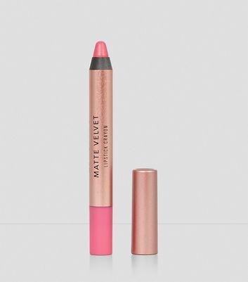 Flamingo Pink Velvet Matte Lipstick Crayon New Look