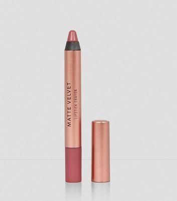 Rosewood Pink Velvet Matte Lipstick Crayon New Look