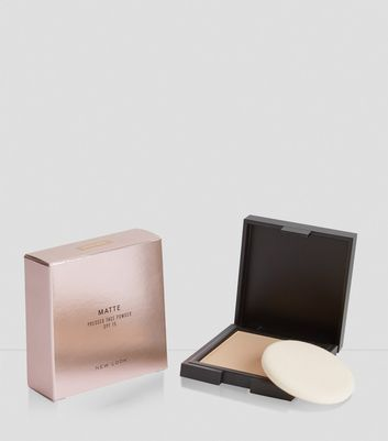 Natural Beige Matte Pressed Face Powder New Look