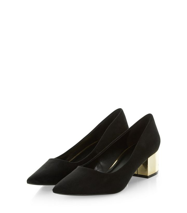 7d7b1a6971a3 ... Black Suedette Metal Block Heel Pointed Court Shoes. ×. ×. ×. VIDEO  Shop the look
