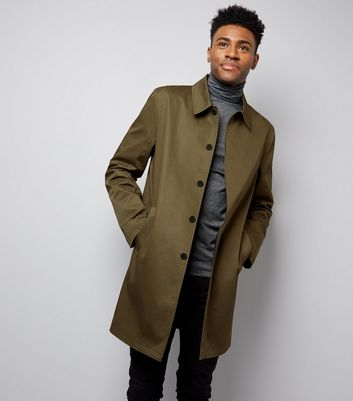 Khaki Single Breasted Trench Mac New Look