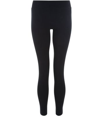 Teens Black Side Stripe Leggings New Look